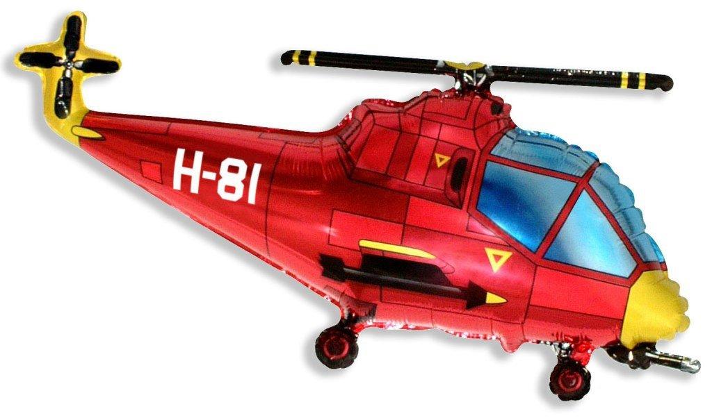 Вертолёт (красный), 56*97 см