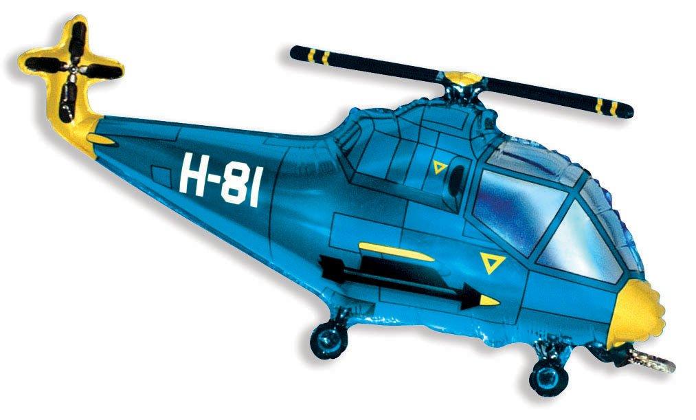 Вертолёт (синий), 56*97 см