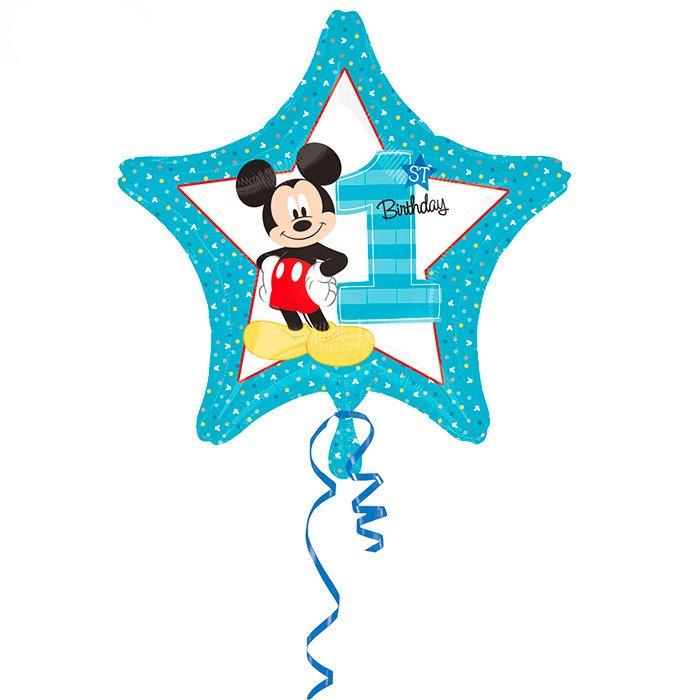 Звезда Микки 1й День рождения, 48 см