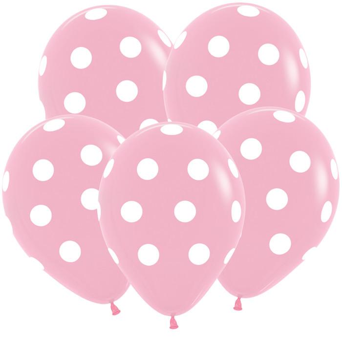 Большие кружки, Розовый Пастель, 5 сторонняя печать, 30 см / 50 шт