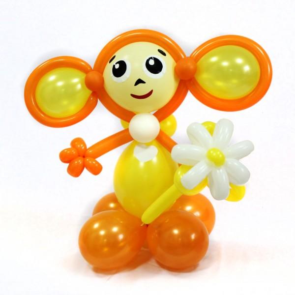 Чебурашка с цветочком