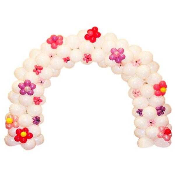 Гирлянда плетеная из шаров с цветочками