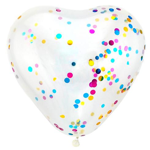 Сердце Прозрачное, Кристал, 30 см / 100 шт / Турция