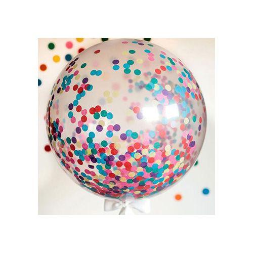 Гелиевый шар 45см с конфетти