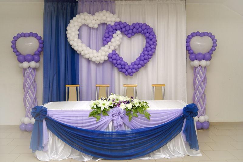 Украшение свадебного торжества шарами