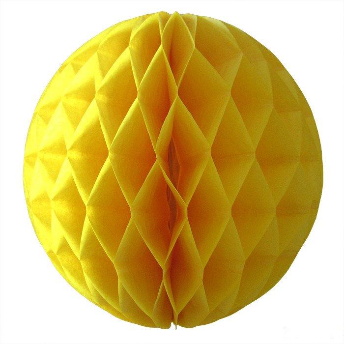 Шар-соты Желтый, 15 см
