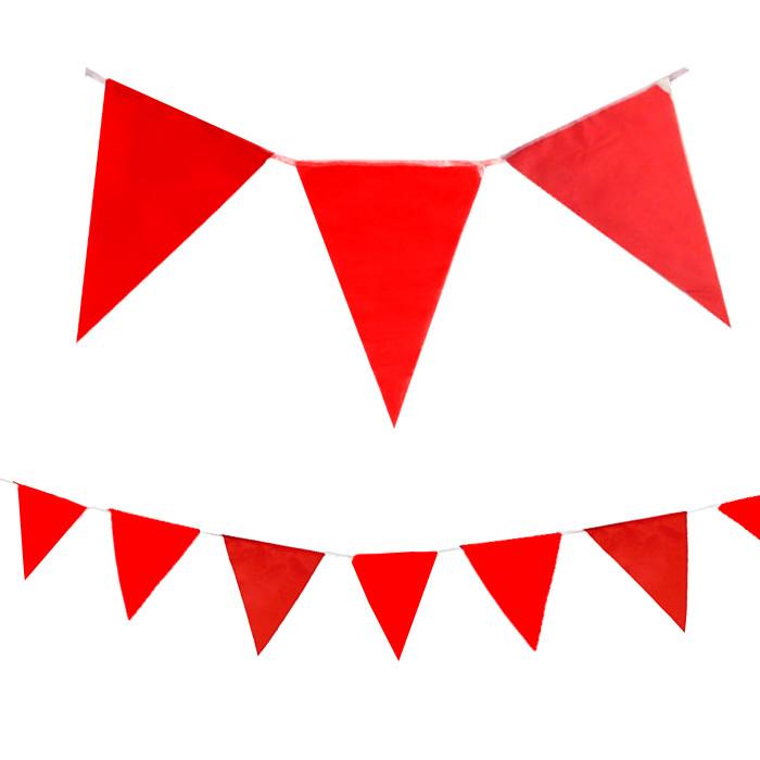 Флажки расцвечивания Красные, длина 9 м