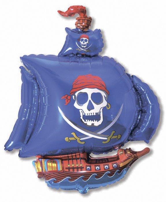 Пиратский корабль (синий), 79*104 см
