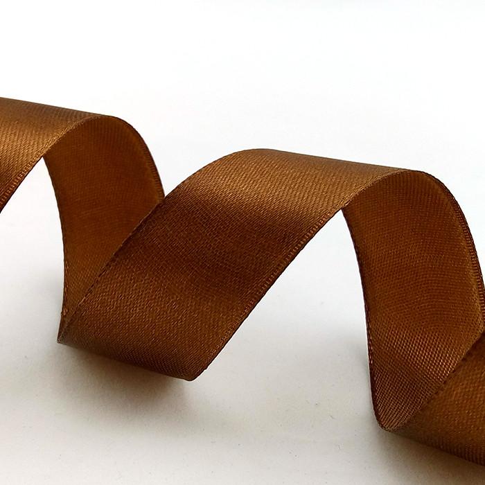 Лента Атлас Шоколадный / 2,5 см * 22,85 м