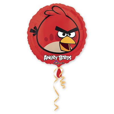 Шар фольгированный Angry Birds Красная, 46 см