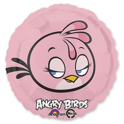 Шар фольгированный Angry Birds Розовая, 46 см