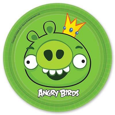 Тарелки Angry Birds, 17см, 8 штук/А