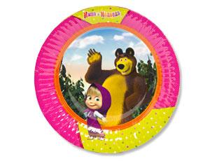 Тарелка бум Маша и Медведь 23см 6шт/G