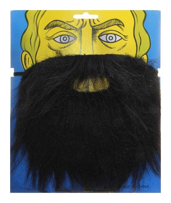 Карнавальная борода, цвет чёрный