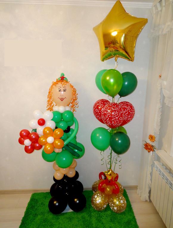 Компоцизия из воздушных шаров