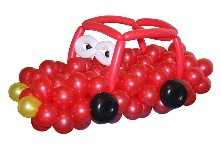 Машинка из воздушных шаров