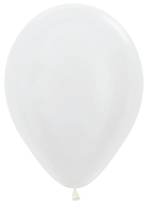 Белый, Перламутр / White Sempertex, 23 см , 100 шт