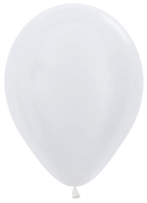Белый (Жемчужный), Перламутр / Pearl Sempertex, 100 ШТ, 23 см,