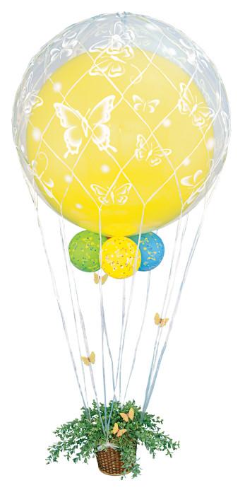 Сетка на шар Белая / Raffia balloon net, 36