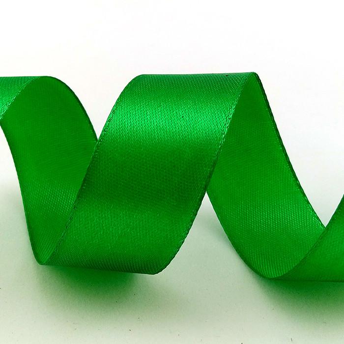 Лента Атлас Зеленый,2,5 см * 22,85 м