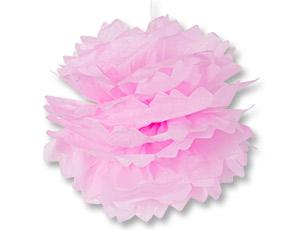 Помпон бумажный розовый 40см/G