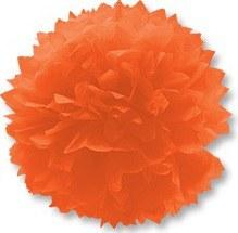 Помпон бумажный  оранжевый  40см/G