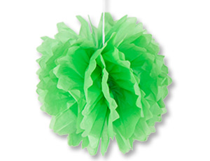 Помпон бумажный светло-зеленый 40см/G