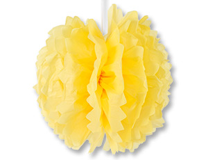 Помпон бумажный желтый 40см/G