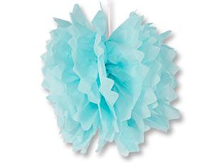 Помпон бумажный голубой 40см/G