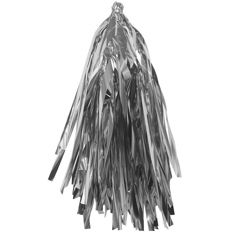 Гирлянда Тассел, Серебро, фольга, 3 м, 12 листов