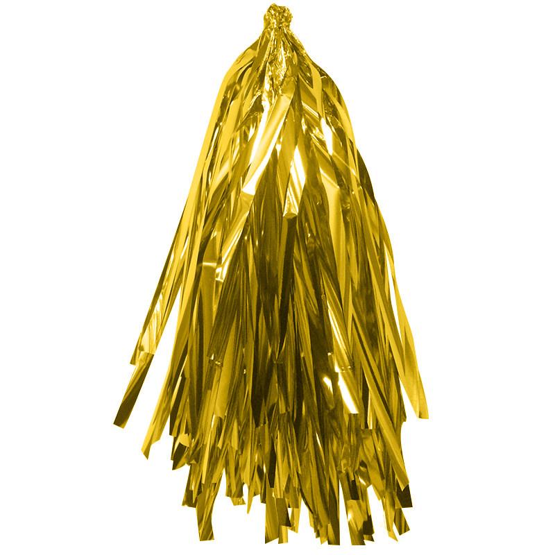 Гирлянда Тассел, Золото, фольга, 3 м, 12 листов