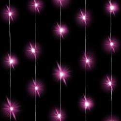 Светодиодная нить Розового свечения, длина 3м, 30 Led