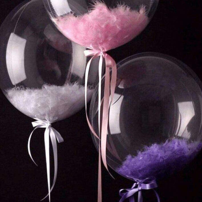 Пластиковый Шар Deco Bubble (Баблс) 61см  c гелием