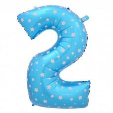 Цифра 2, голубой 102см