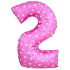 Цифра 2, розовый 102см