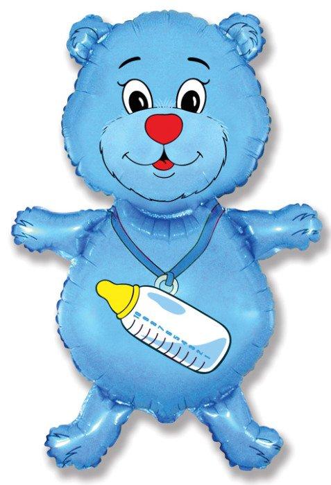 Медвежонок мальчик (синий), 94*61 см