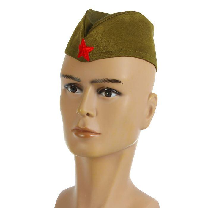 Пилотка военного для взрослых простая