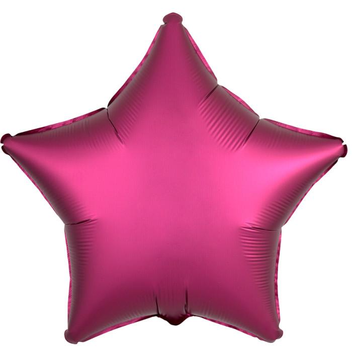 Звезда Гранат Сатин Люкс в упаковке, 46 см