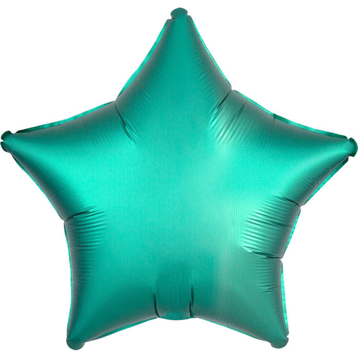 Звезда Бирюза (Тиффани) Сатин Люкс в упаковке, 46 см