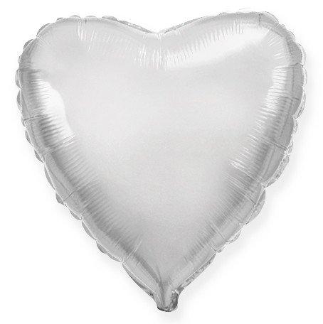 Сердце Серебро, 10 см