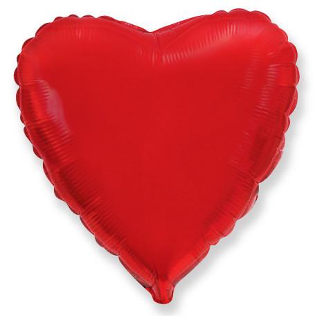 Сердце Красный, 23 см