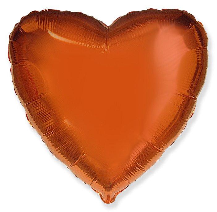 Сердце Оранжевый, 48 см