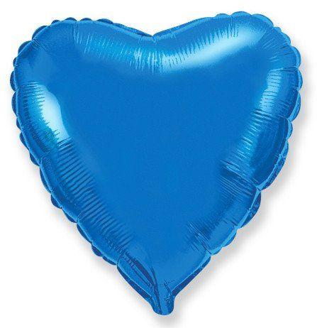 Сердце Синий, 23 см