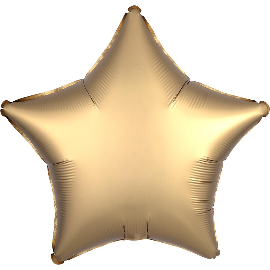 Звезда Золото Сатин Люкс в упаковке, 46 см