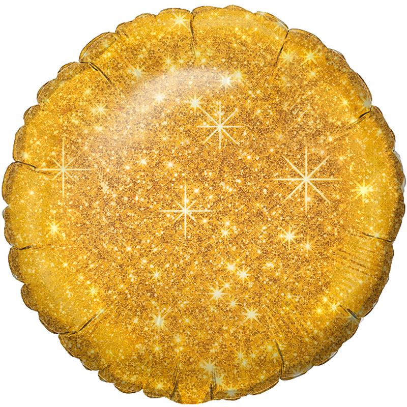 Круг Блестящий Золото / Faux Sparkle Gold S30, 48 см