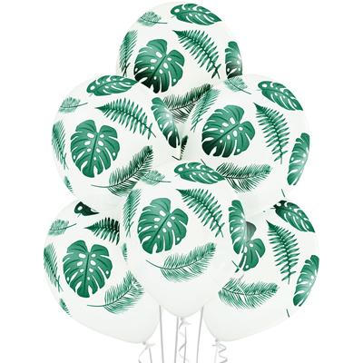 Шар шелкограф. пастель Листья тропические, 35 см