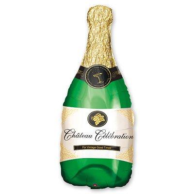 Шар фигура Бутылка шампанского, , 35 см/91 см