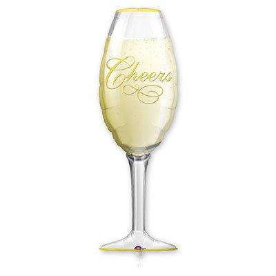 Шар фигура Бокал шампанского, 35 см/97 см