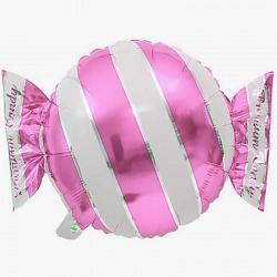 Шар (18\/46 см) Фигура, Конфета, Розовый