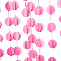 Подвеска Круги, Розовый, 200 см